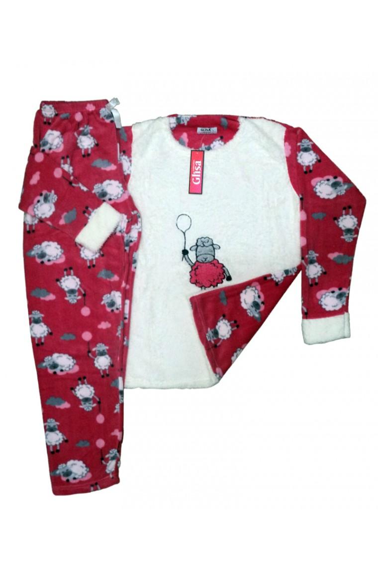 Bayan Polar Pijama Takım