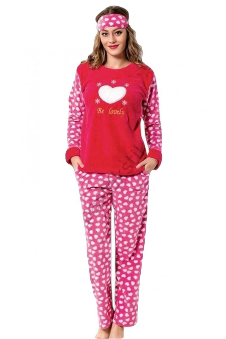 Bayan Polar Kışlık Pijama Takımı 17665
