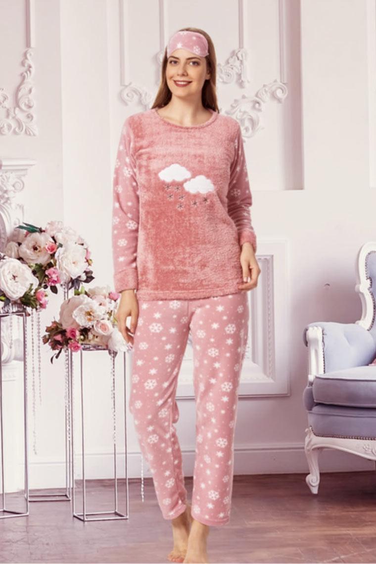 Bayan Polar Kışlık Pijama Takımı 1065